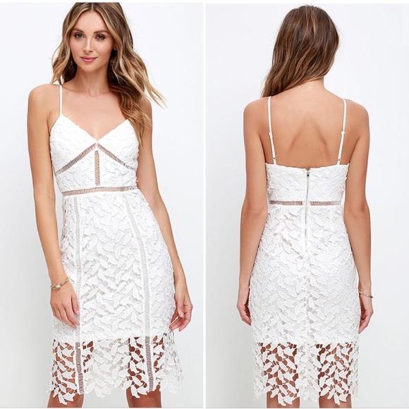cf632d97b7fa Lulu's Dresses | Lulus Burning Desire Ivory Lace Midi Dress | Poshmark